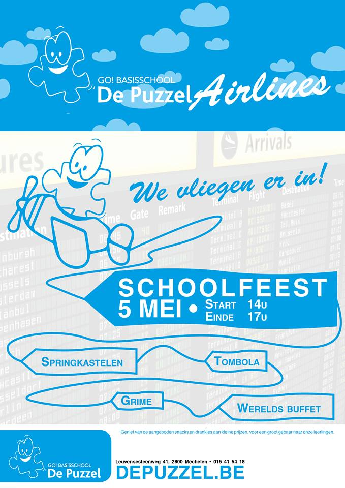 flyer schoolfeest